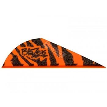 """Douzaine plumes Blazer 2"""" Tiger"""