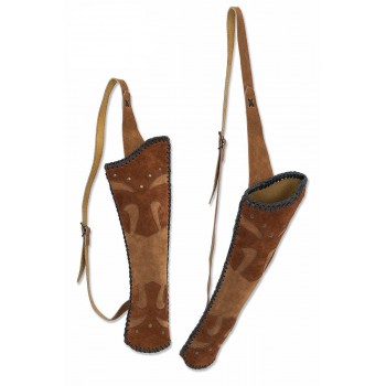 Carquois de dos Buck Trail Bronco suede leather