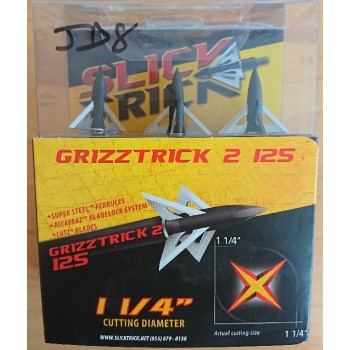 Pack 3 pointes Slick Trick Grizztrick 2 1.1/4 125 grains
