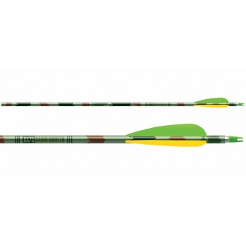 Pack 6 Flèches XX75 Camo Hunter Vanes